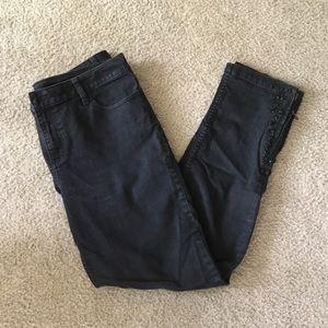 🌟Cache Black Embellished Jeans